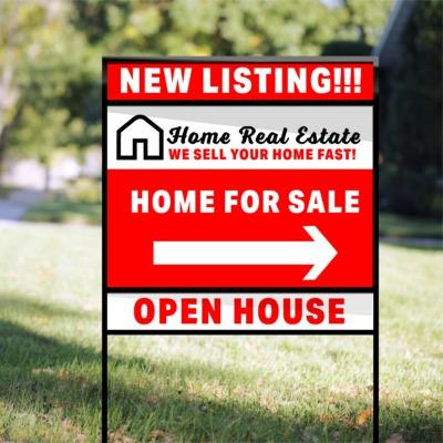 Real Estate signs H Frame DoubleMOCKUP 01