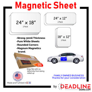 24 x 18 Magnetic Sheet template