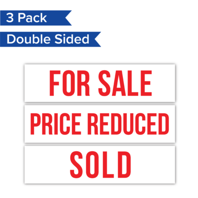 3pack ForSale PriceRed Sold RealEstateRider WhiteBG Coro 24x6 PRODUCT 01