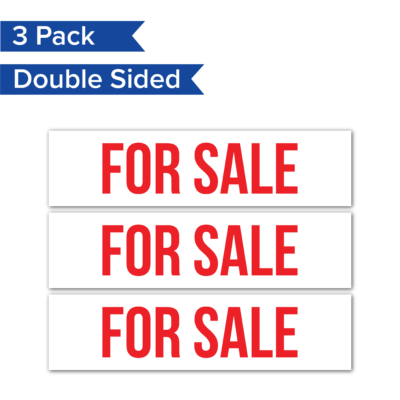 3pack ForSale RealEstateRider WhiteBG Coro 24x6 PRODUCT 01